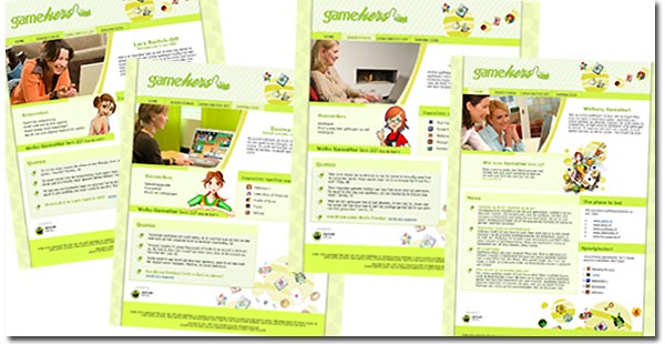 """GamerHers"" website 2007"
